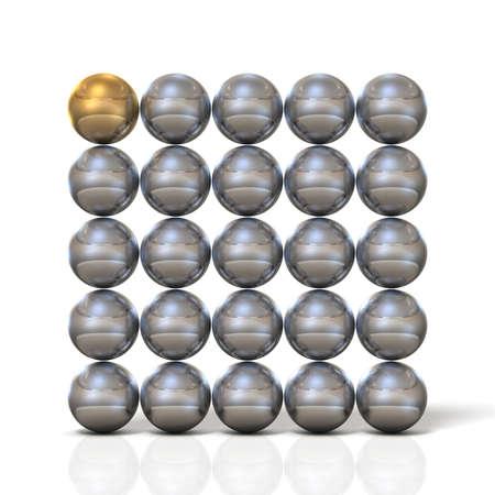球の壁で構成されています。分離、コンピューター生成画像 写真素材