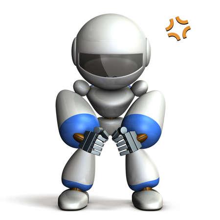 personas enojadas: Robot es evidente porque enojado. imagen generada por ordenador
