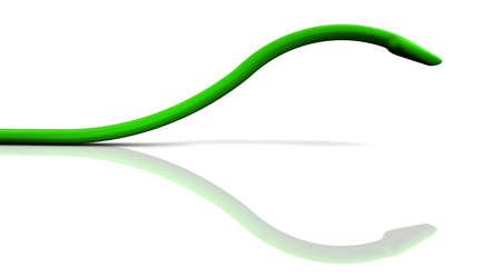 pounce: Arrow like organisms is looming. 3D  illustration
