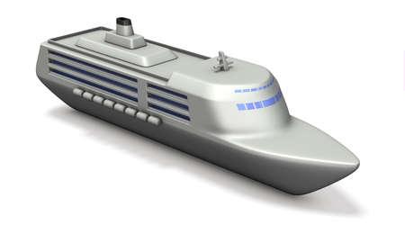 cruise ships: Miniature model of the large cruise ships. 3D illustration