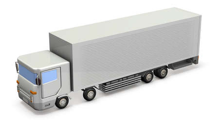 Miniature model of the truck. 3D illustration