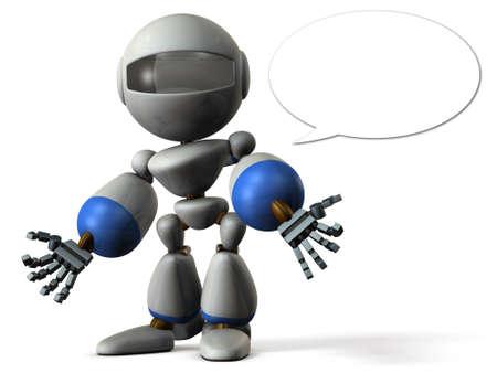 Robot has shed a bad rumor. 3D illustration