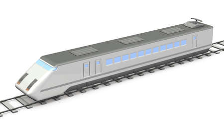 Miniature model of express. 3D illustration Stock Photo