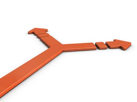 分岐を表す矢印。3 D イラストレーション 写真素材 - 65965560