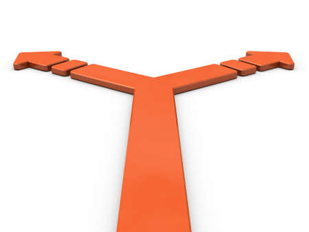 foretelling: Arrow representing the branch. 3D illustration