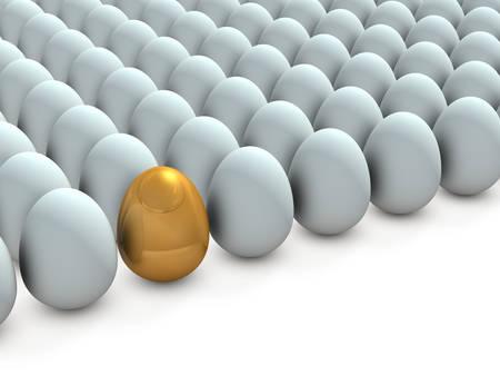 Prodigy: Jest obiecujący w wielu jaj. Ilustracja 3D Zdjęcie Seryjne