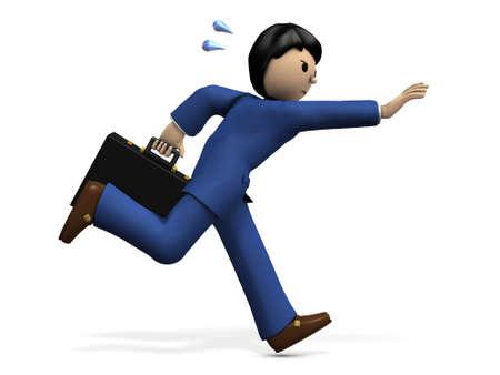 pursuing: A businessman chasing something. 3D illustration