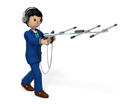 Hommes d'affaires recueillant des informations. Illustration 3D Banque d'images - 89317369