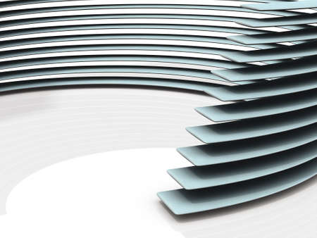 Objects depicting a stack like a stadium. 3D illustration
