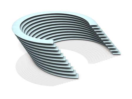 スタジアムのようなスタックを描いたオブジェクト。3Dイラストレーション 写真素材 - 93743847