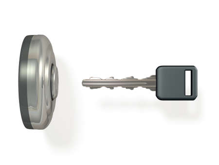 Car ignition key. It implies the start of things. 3D illustration