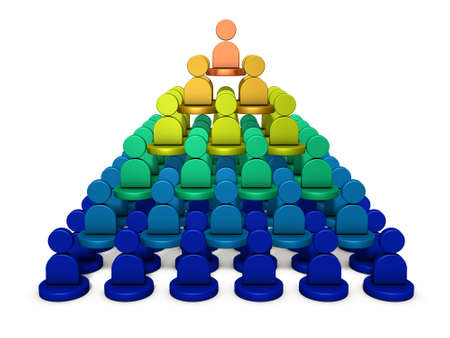 It is a pyramid structure, rank of power. It represents the structure of the organization. 3D illustration Stock Illustration - 107294390