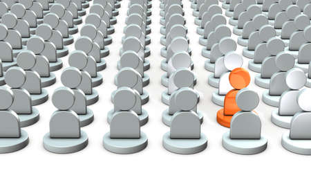 He stands out among many people. He has a very good talent. 3D illustration Stock Illustration - 107415200