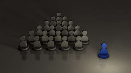 Presence independent of organization and faction. It is lonely. 3D illustration