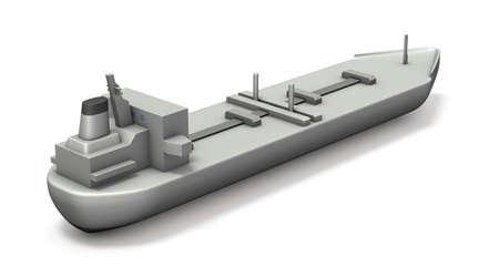 Simple model tanker. White background. 3D illustration. 写真素材 - 126035709