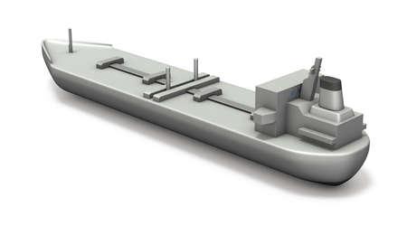 Simple model tanker. White background. 3D illustration. 写真素材 - 126035719