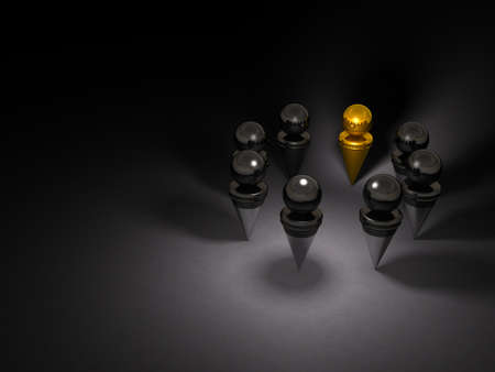 The key person discusses the plot with his illegal organization. Dark background. 3D illustration. Stock fotó