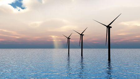 cgi: CGI of 3 wind turbines