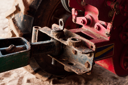 latch: Latch of mini tractor.