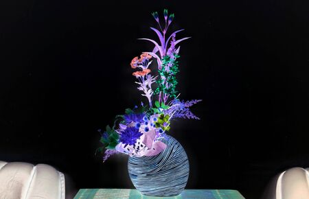 inverse: Inverse of flower vase picture. Stock Photo