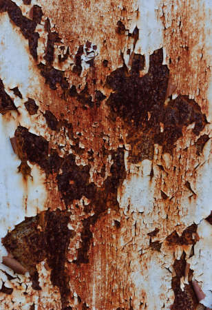 Rust on old steel door.