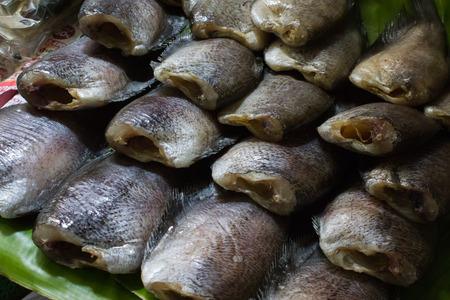 threshing: Dried Fish on threshing basket