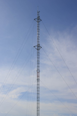 mast: High communications mast Stock Photo