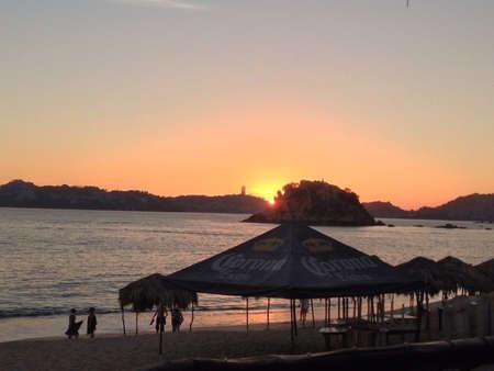 Sunset in Acapulco Stock fotó