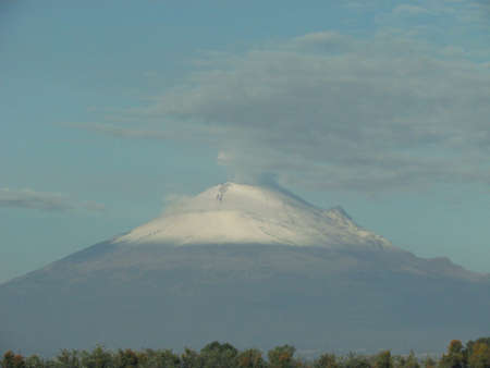 active volcano: Popocatepetl active Volcano view