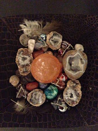 Crystal rocks collection Stock fotó