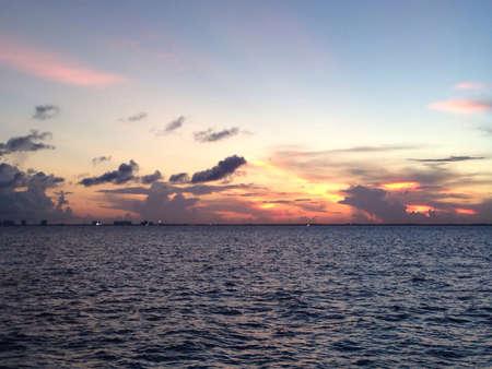 Peaceful sunset at the sea