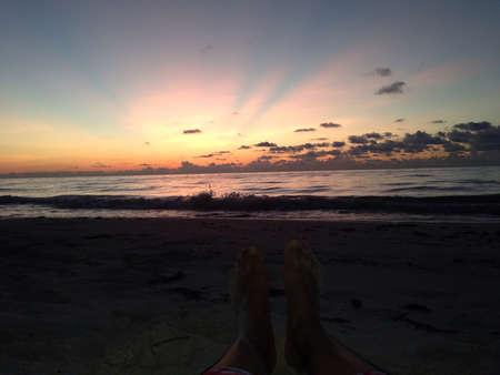 Sunset at Tulum Stock fotó