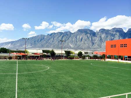 Sunny day to play football