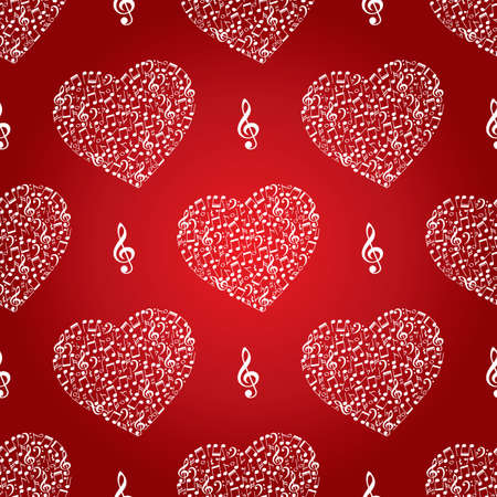 music background: hearts music background