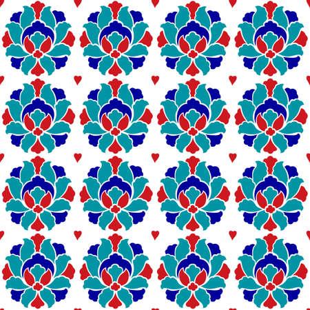 ottoman: ottoman floral background