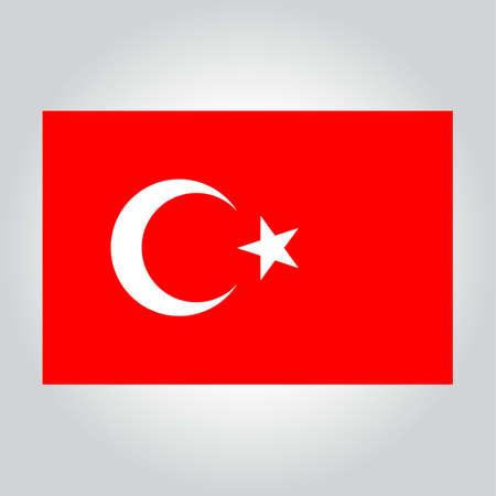 turkey flag: turkey flag