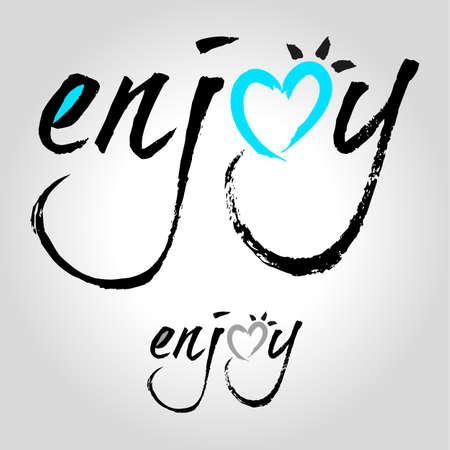 enjoy: enjoy type Illustration