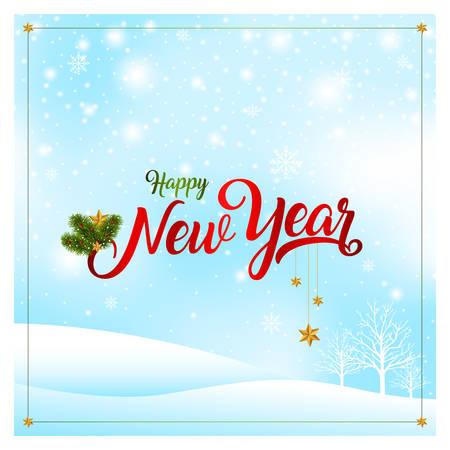 nový rok karty vektorové ilustrace.