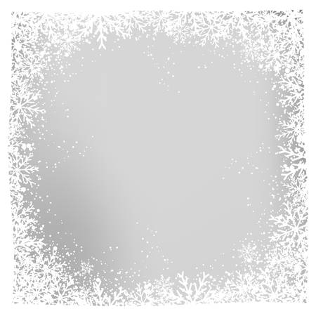 Snowflake background vector illustration.