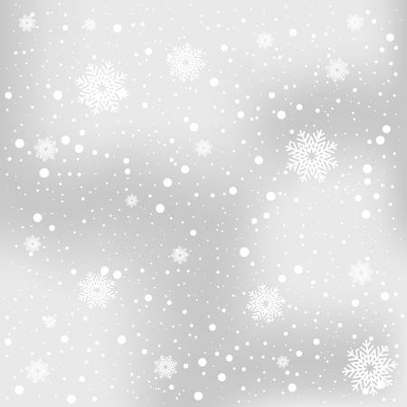 Snowflake falling, winter themed, snowfall illustration.