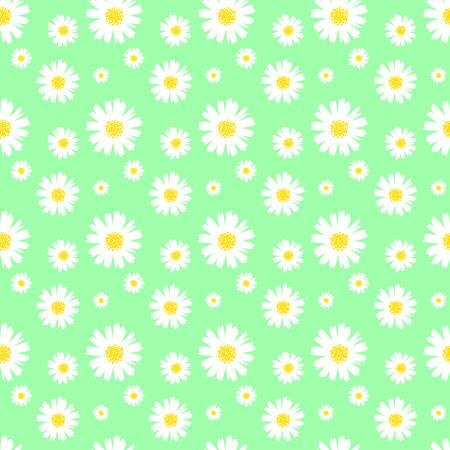 seamless daisy background vector illustration Illustration