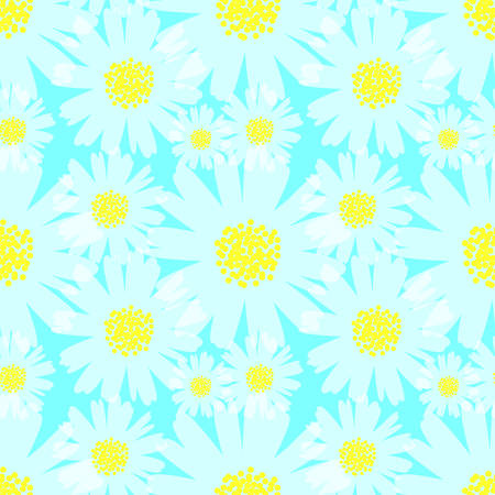 seamless daisy background vector illustration Ilustração