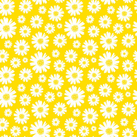 seamless daisy background vector illustration  イラスト・ベクター素材