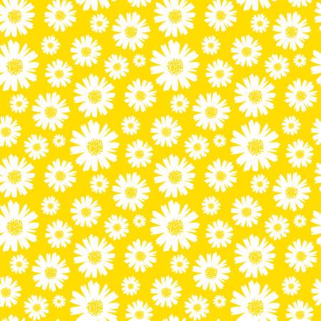illustration vectorielle de fond marguerite sans soudure