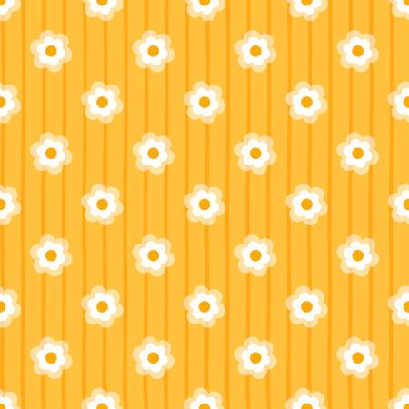 seamless daisy background vector illustration Ilustrace