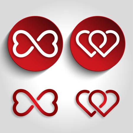Heart image icon illustration Illustration