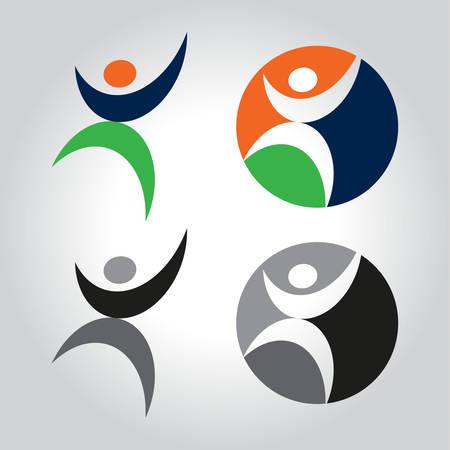 people logo vector illustration