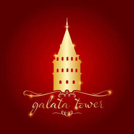Istanbul Galata tower vector illustration