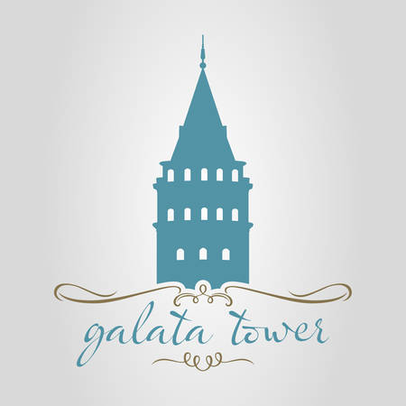 istanbul galata tower vector illustration Illustration