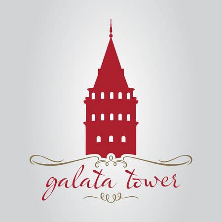 istanbul galata tower vector illustration Ilustrace